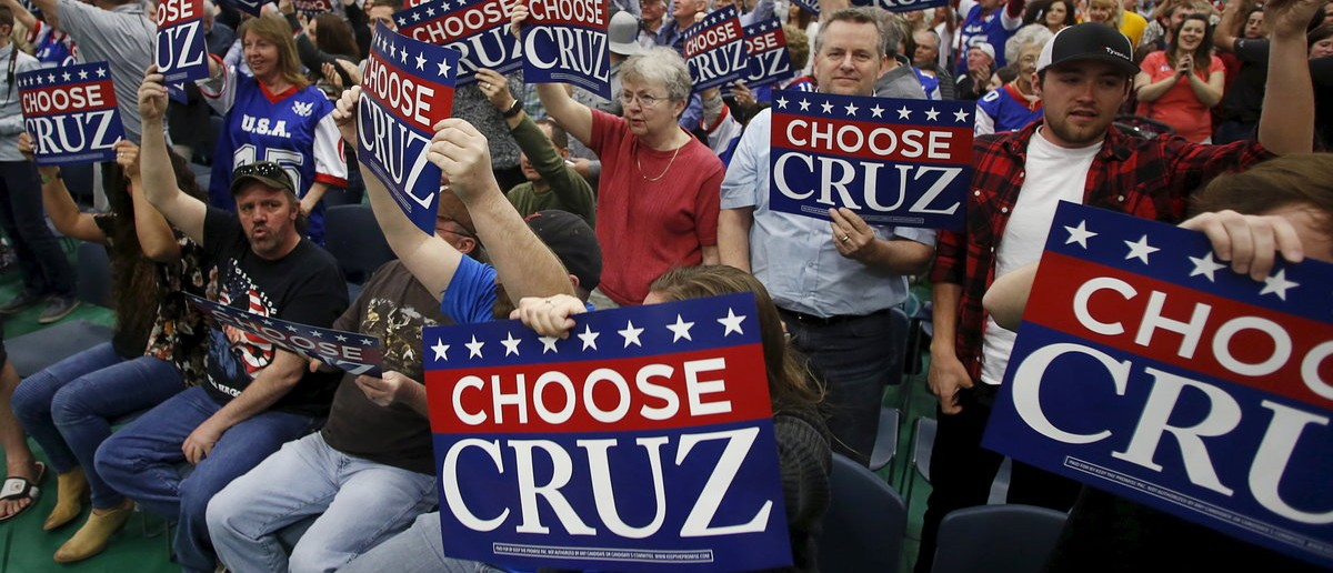 Supporters cheer during a campaign rally for Republican U.S. presidential candidate Ted Cruz in Provo, Utah March 19, 2016. REUTERS/Jim Urquhart