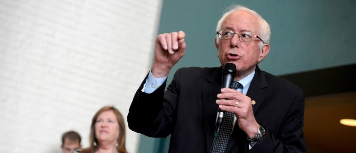 Democratic U.S. presidential candidate Sanders speaks at a campaign rally in Wausau, Wisconsin
