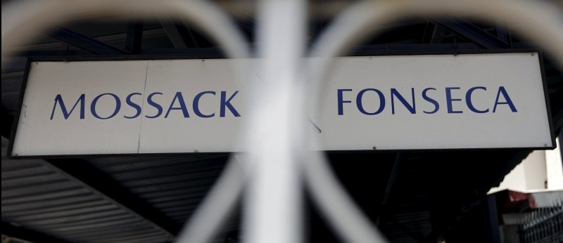 Mossack Fonseca law firm sign is pictured in Panama City