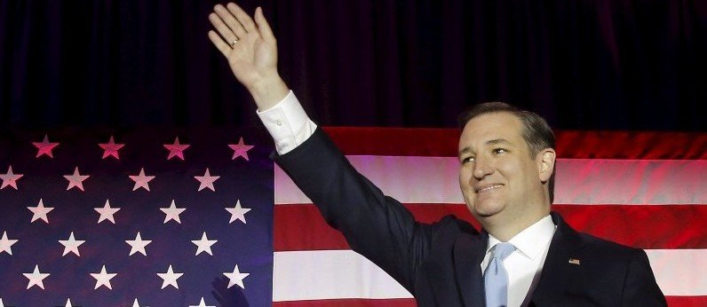U.S. Republican presidential candidate Ted Cruz arrives at his Wisconsin primary night rally in Milwaukee, Wisconsin, United States, April 5, 2016. REUTERS/Jim Young