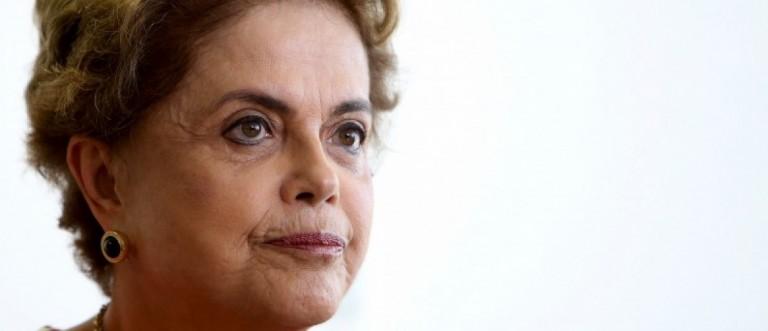 Brazil's President Dilma Rousseff works at her office in Brasilia