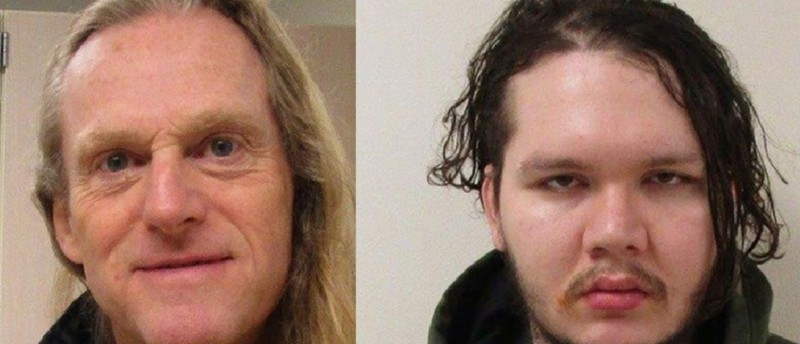 Anthony Garver, 28, and Mark Adams, 58 (L), who escaped from Western State Hospital in the city of Lakewood, Washington are shown in this Washington State Department of Social and Health Services handout combination photo released on April 7, 2016. REUTERS/Washington State Department of Social and Health Services/Handout via Reuters