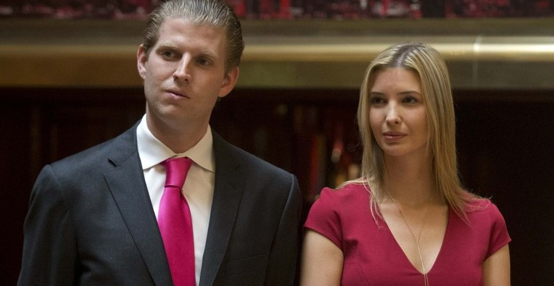Eric Trump and Ivanka Trump attend a news conference in New York, in this file photo taken May 1, 2014.  Eric, 32, and Ivanka, 34, Republican Presidential candidate Donald Trump's second and third children, have campaigned extensively with their father, but both missed the deadline for registering as Republicans to vote in the New York primary on April 19.  REUTERS/Brendan McDermid/Files