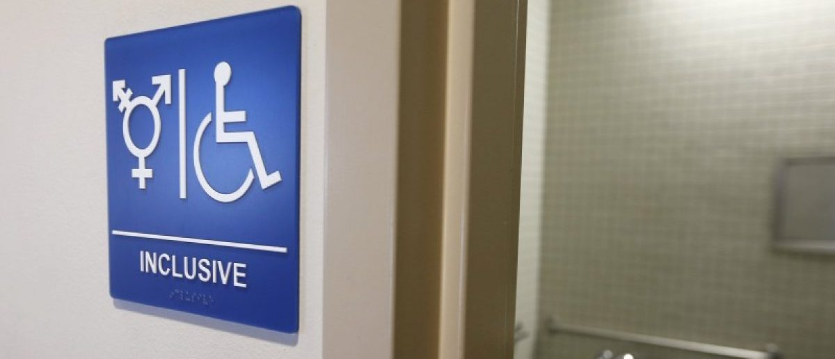 A gender-neutral bathroom is seen at the University of California, Irvine in Irvine, California, in this file photo taken September 30, 2014. REUTERS/Lucy Nicholson