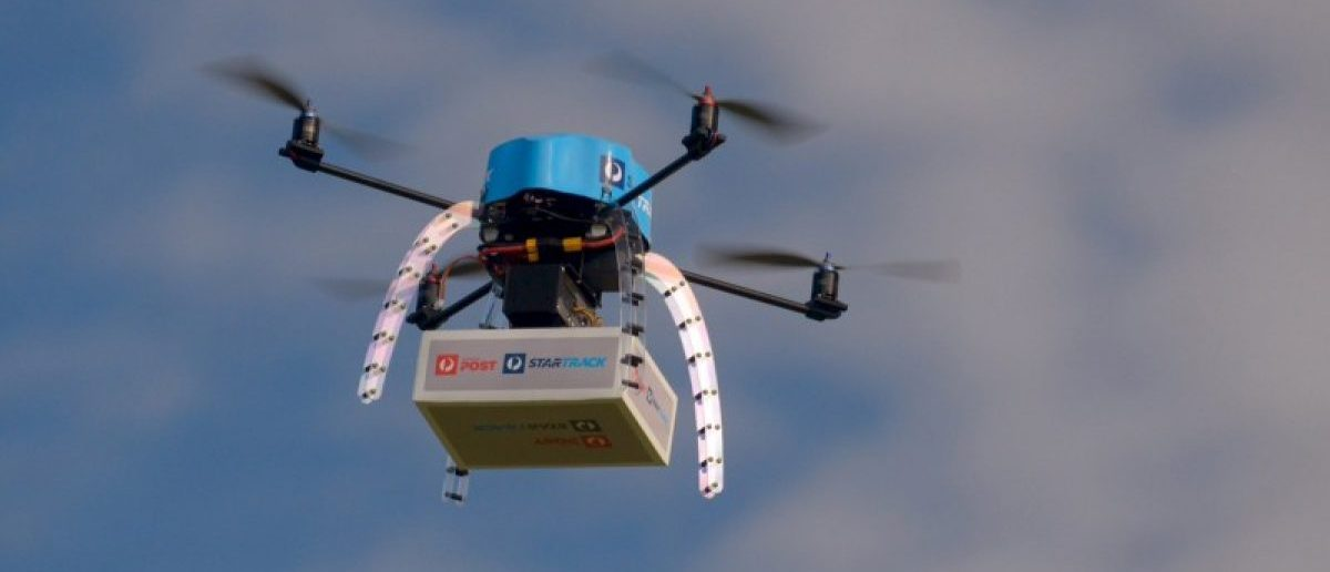 An Australia Post drone is pictured during trials of delivering packages from the air in this handout picture taken in Melbourne, Australia, April 15, 2016. REUTERS/Australia Post/Handout via Reuters