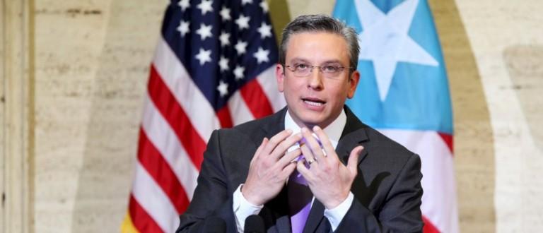 File photo of Puerto Rico's Governor Garcia Padilla speaking ain San Juan