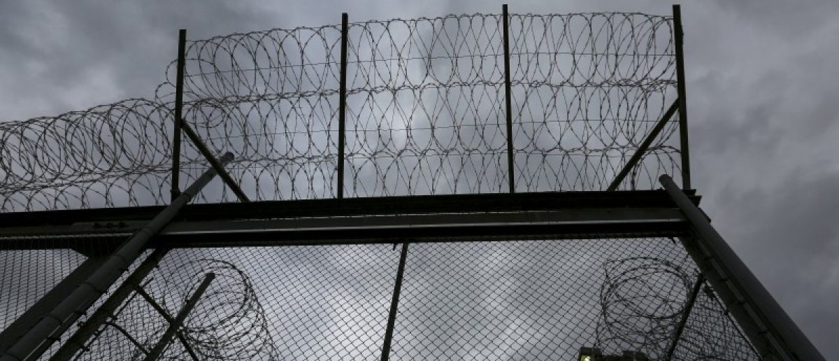The front gate is pictured at the Taconic Correctional Facility in Bedford Hills, New York April 8, 2016. REUTERS/Carlo Allegri