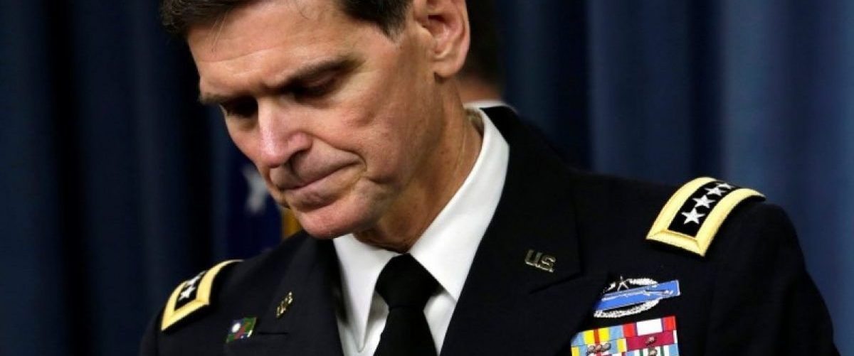 U.S. Army General Joseph Votel, commander, U.S. Central Command, arrives to brief the media at the Pentagon in Washington, U.S. April 29, 2016 about the investigation of the airstrike on the Doctors Without Borders trauma center in Kunduz, Afghanistan on October 3, 2015. REUTERS/Yuri Gripas