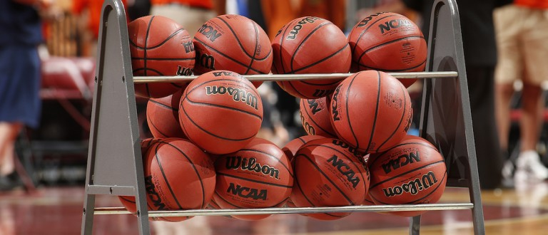 Rack Of Basketballs