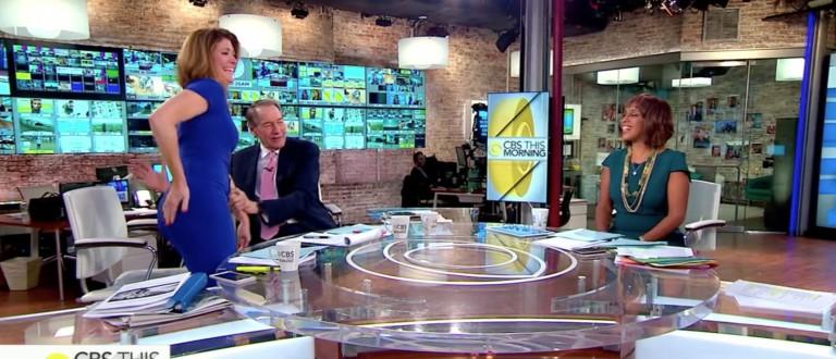 Charlie Rose, Norah O'Donnell, Screen Shot CBS, 4-21-2016