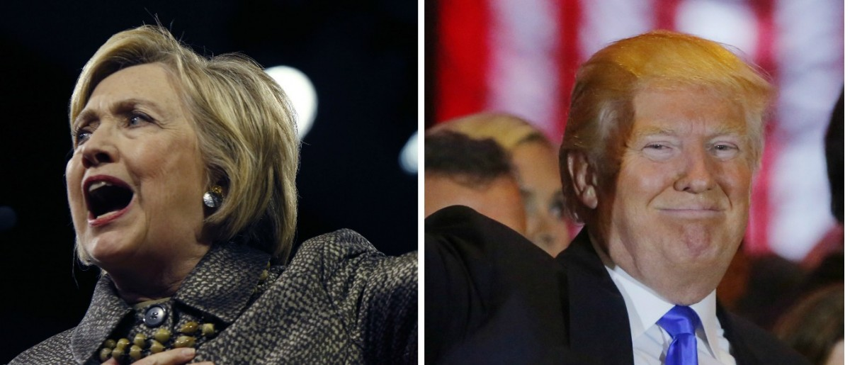 Donald Trump, Hillary Clinton, Images via Reuters, RTX2BSZG and RTX2BT7I