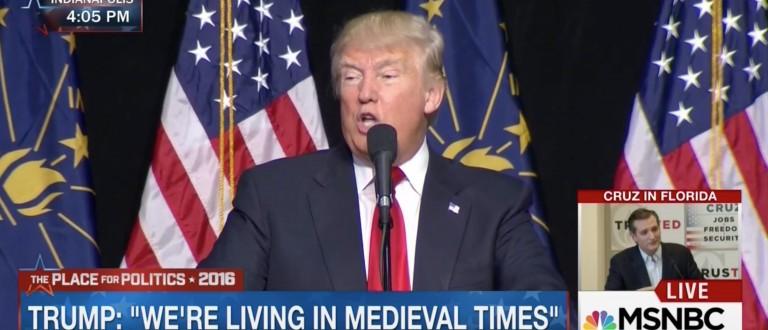 Donald Trump, Screen Shot MSNBC, 4-20-2016