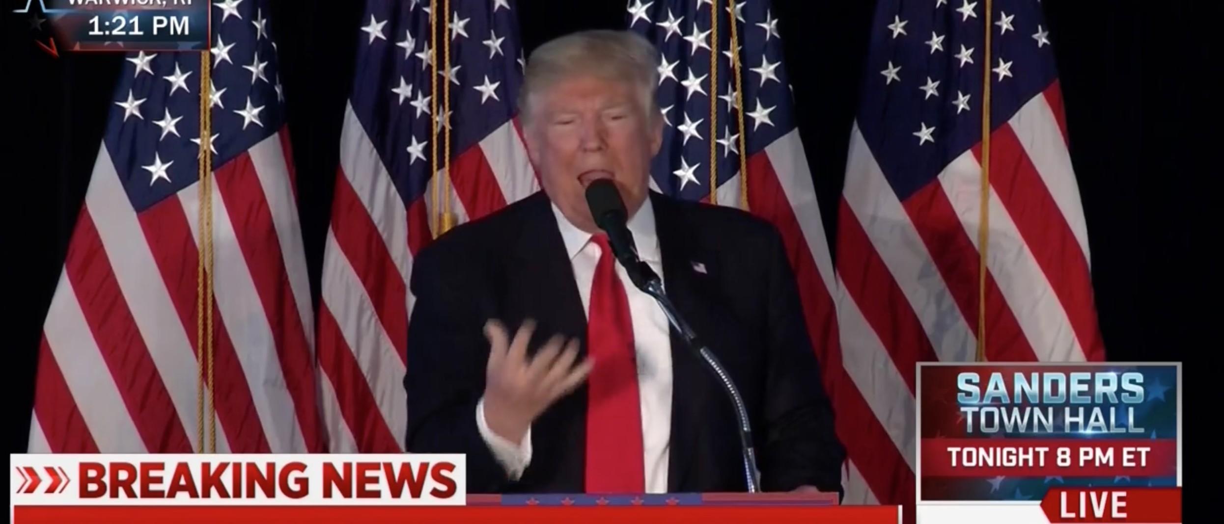 Donald Trump, Screen Shot MSNBC, 4-25-2016