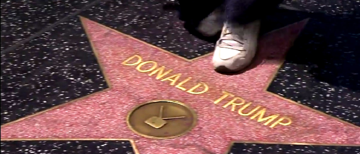 Donald Trump Walk of Fame star YouTube screenshot/CNN