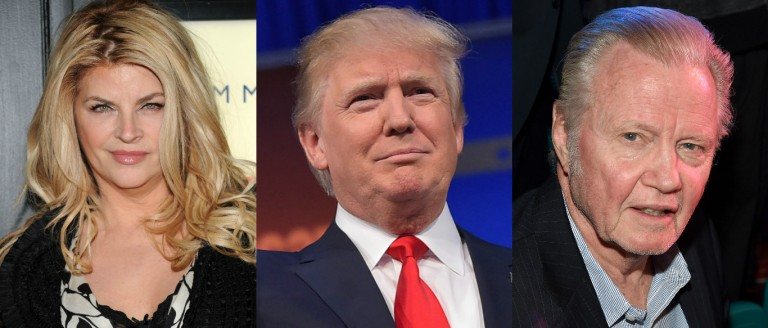 Celebrities who are voting for Donald Trump