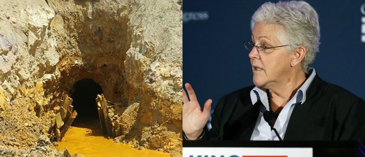 EPA Administrator Gina McCarthy and Gold King Mine. (EPA Handout/Reuters)