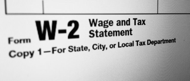(Photo of W-2 tax form)