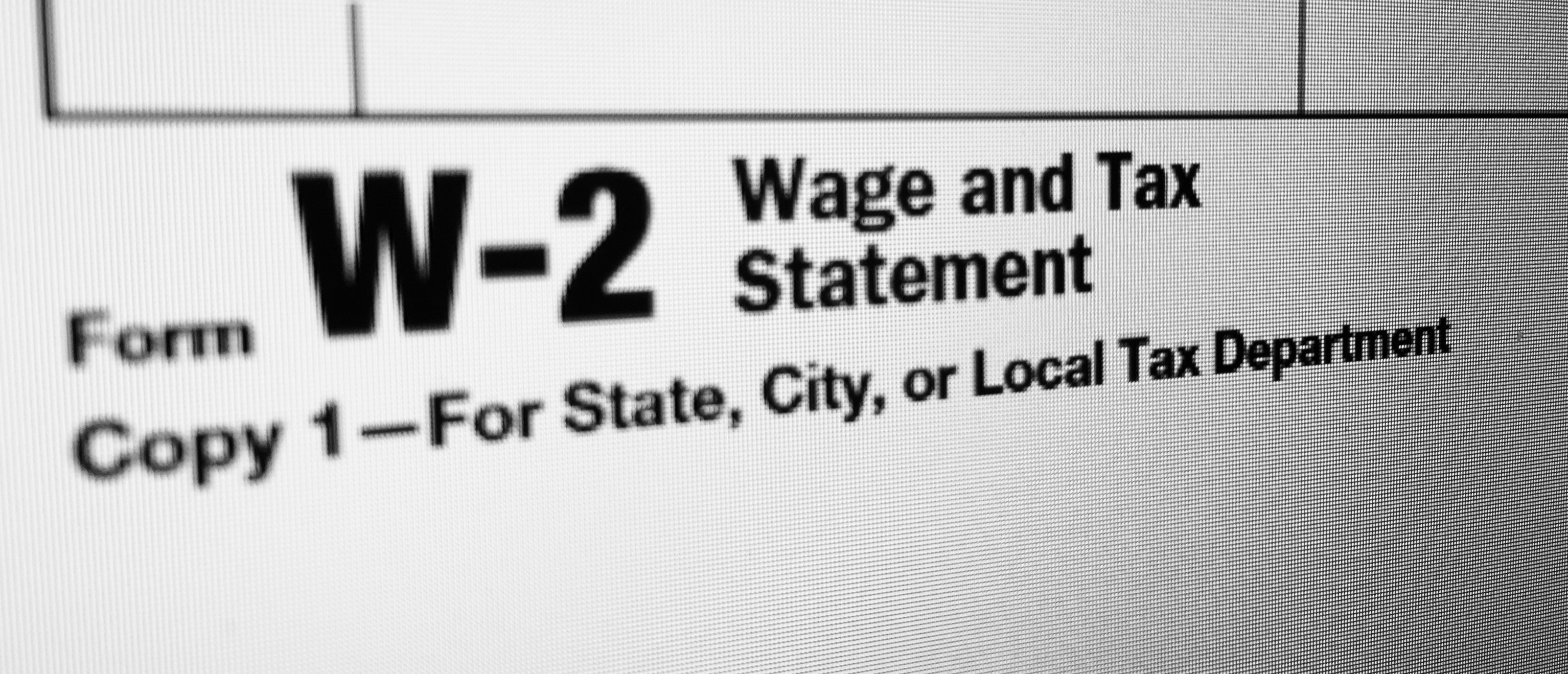 (Photo of W-2 tax form)