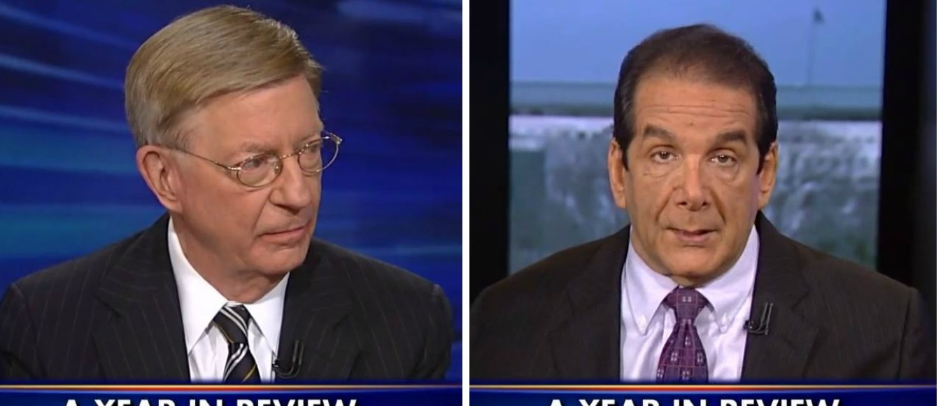 George Will, Charles Krauthammer, Screen Shot Fox News, 4-12-2016