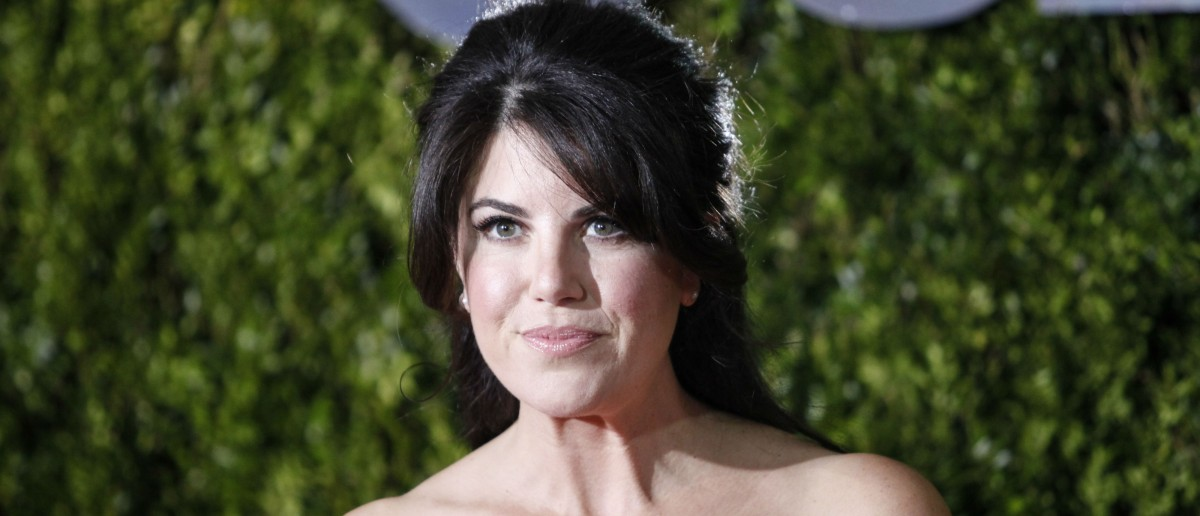 Monica Lewinsky poses on arrival for the American Theatre Wing's 69th Annual Tony Awards at the Radio City Music Hall in New York City on June 7, 2015. (KENA BETANCUR/AFP/Getty Images)