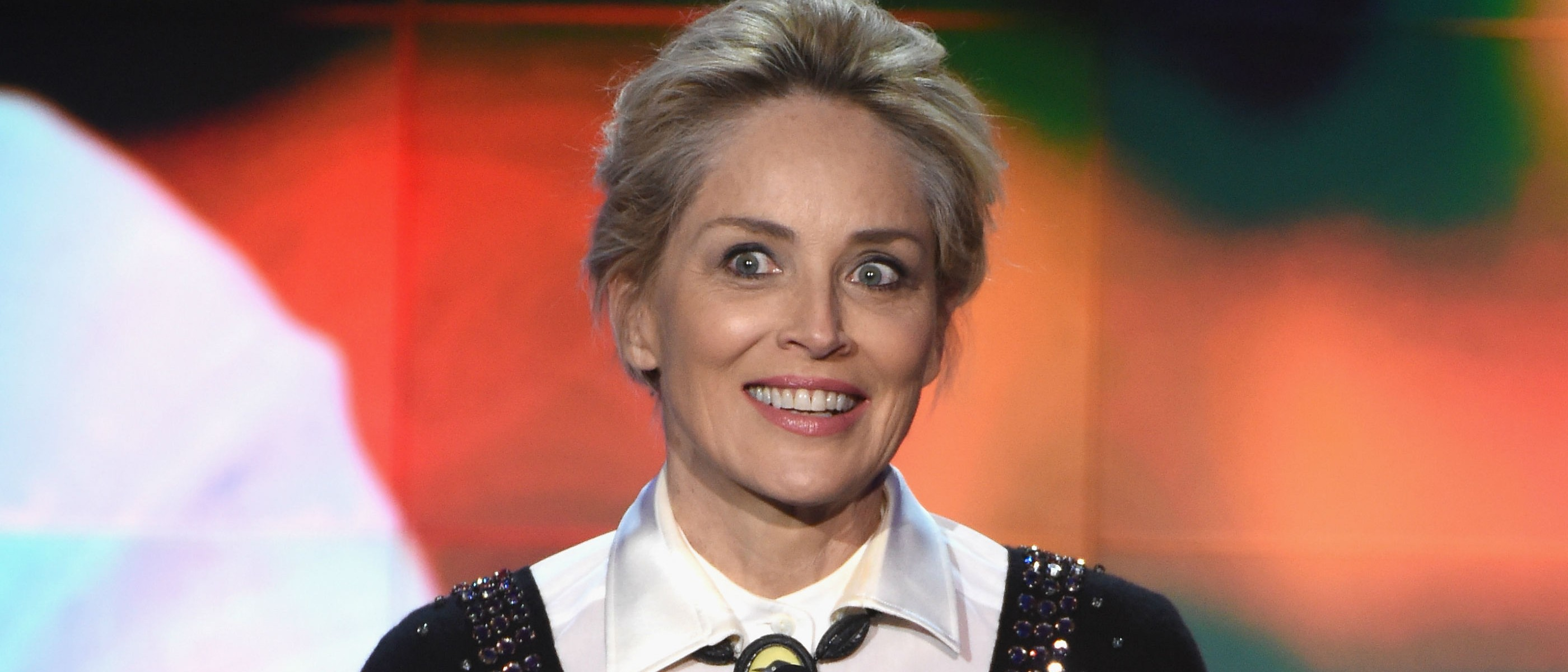Sharon Stone wants to know how much acid Bernie Sanders has taken