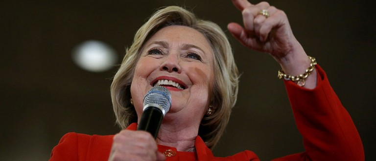 Hillary Joins Verizon Picket Line, Even Though The Company Has Paid Her -- Ehhhh -- $500,000 (Getty Images)
