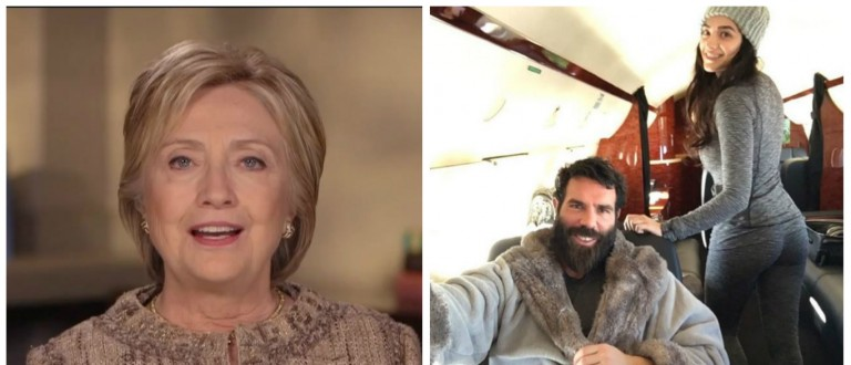 Hillary Clinton, Dan Bilzerian, Images via Screen Shot ABC and Instagram, 4-24-2016