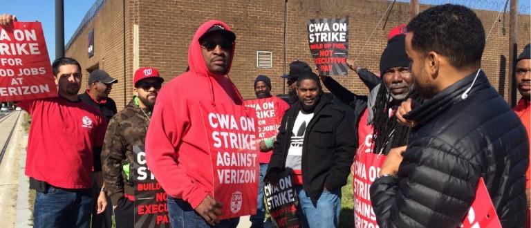 Verizon Strike (Connor D. Wolf/DCNF)
