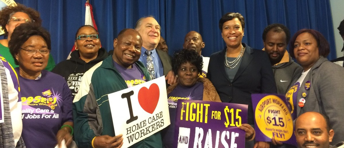 DC Mayor Muriel Bowser Fights For $15 (Connor D. Wolf/DCNF)