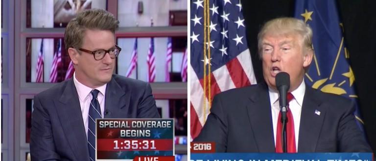 Joe Scarborough, Donald Trump, Screen Shots MSNBC, 4-26-2016