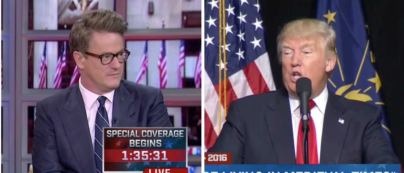 Joe Scarborough, Donald Trump, Screen Shots MSNBC, 4-26-2016