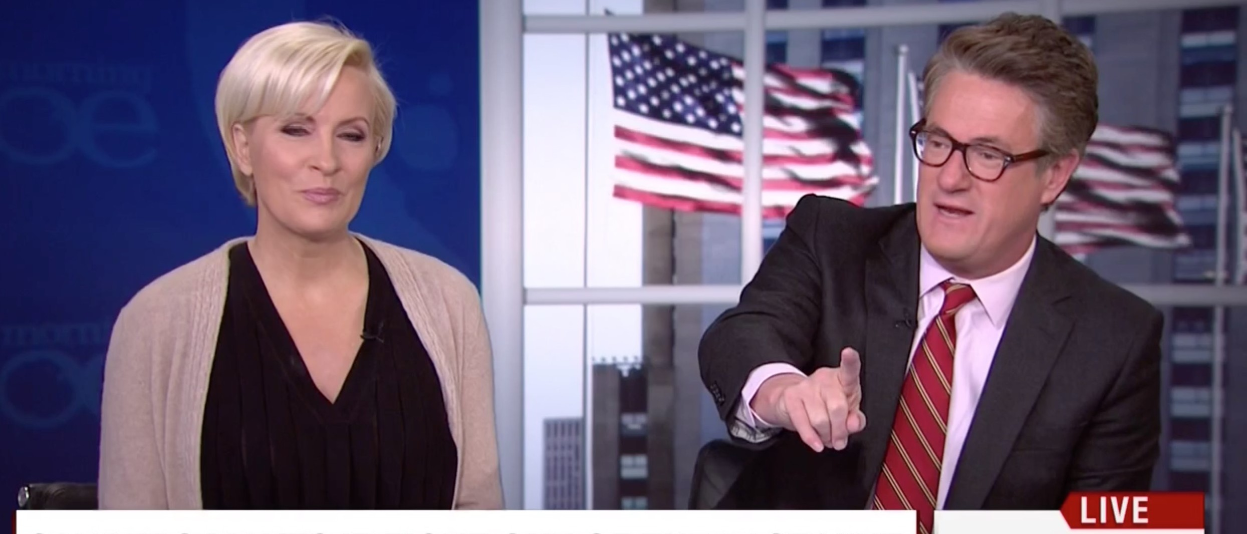 Joe Scarborough, Mika Brzezinski, Screen Shot MSNBC, 4-11-2016