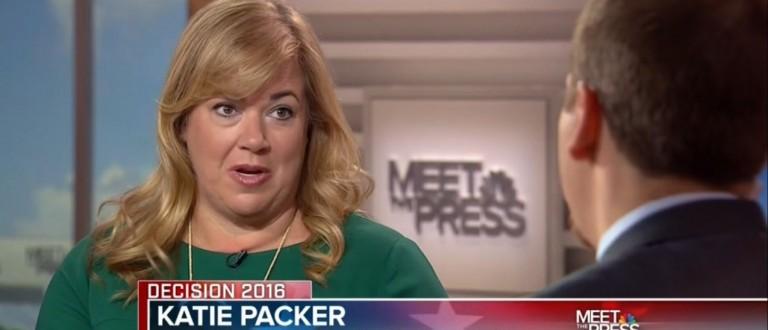 Katie Packer, Screen Shot NBC, 4-24-2016