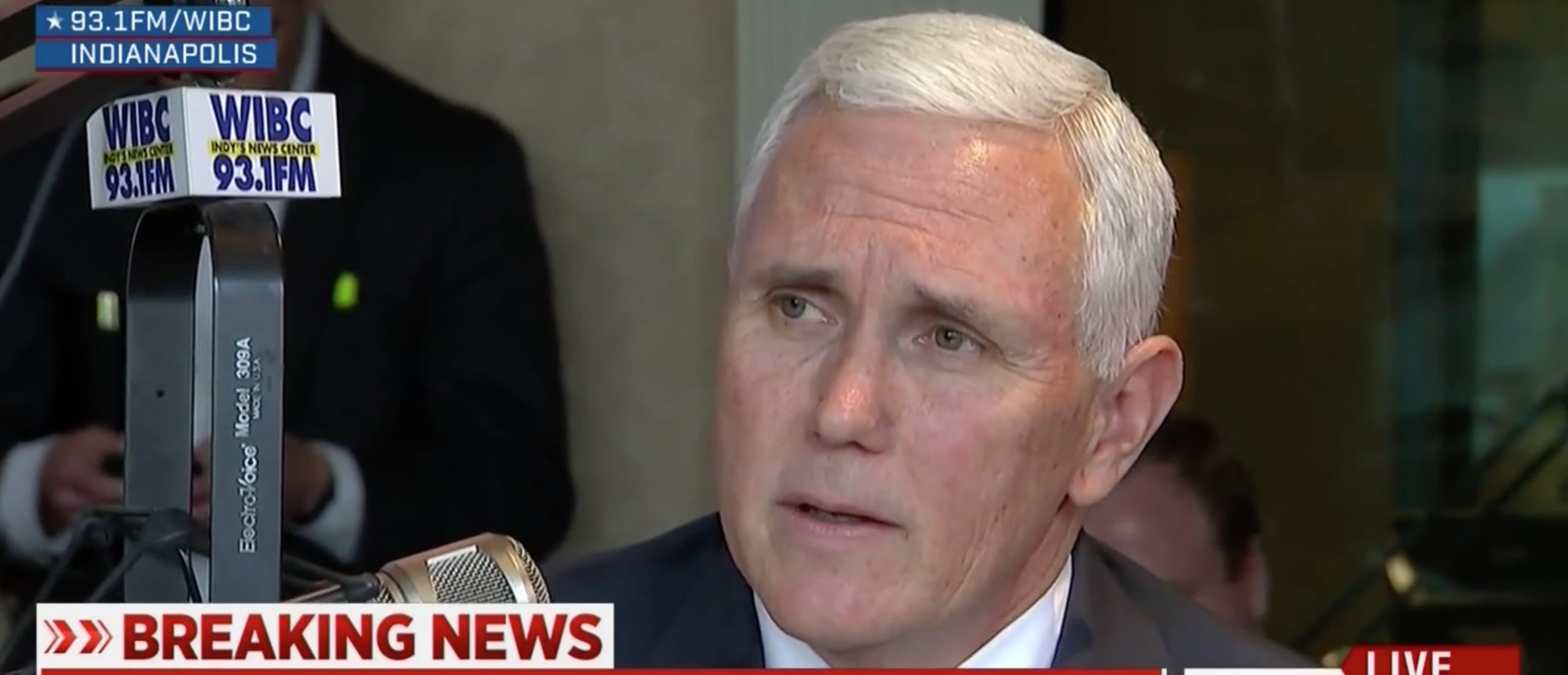 Mike Pence, Screen Shot MSNBC, 4-29-2016