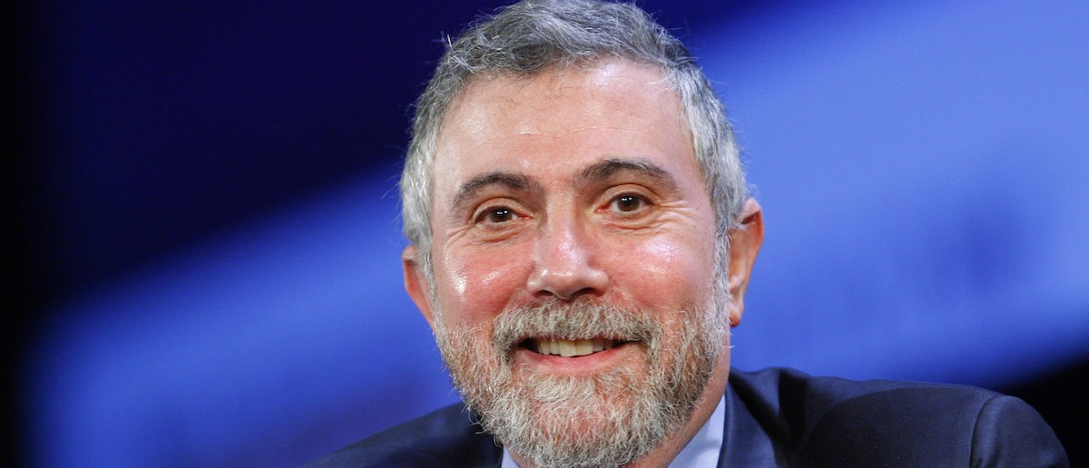 Nobel Prize winning economist Paul Krugman smiles during the World Business Forum in New York October 7, 2009.   REUTERS/Chip East (UNITED STATES BUSINESS) - RTXPERL