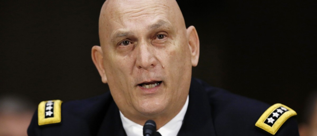 U.S. Army Joint Chief of Staff General Raymond Odierno testifies before a Senate Armed Services Committee on military budget matters on Capitol Hill in Washington January 28, 2015.   REUTERS/Gary Cameron