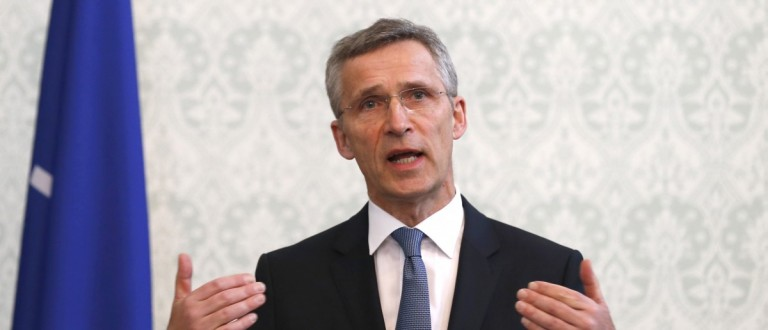 NATO Secretary General Jens Stoltenberg speaks during a news conference in Kabul, Afghanistan March 15, 2016. REUTERS/Mohammad Ismail