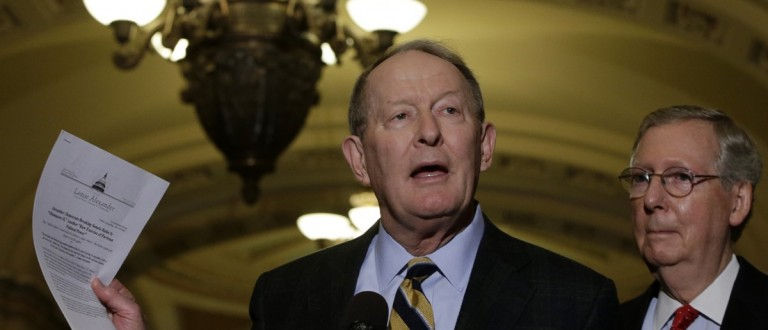 Senator Lamar Alexander hold a news conference on Capitol Hill (REUTERS/Gary Cameron)