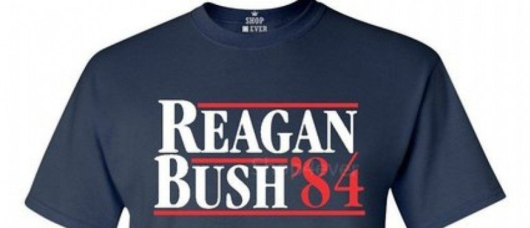 You can get a Reagan-Bush '84 shirt for really, really cheap (Photo via Amazon)
