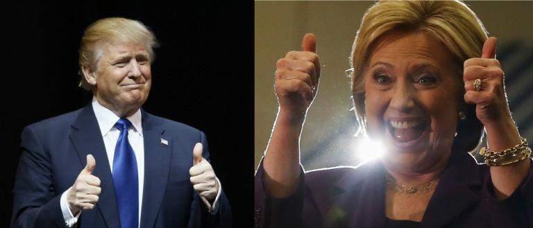 Trump and Clinton Reuters/Rick Wilking, Reuters/Andrees Latif