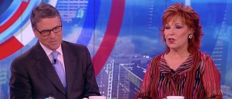 Rick Perry, Joy Behar, Screen Shot ABC 'The View,' 4-27-2016