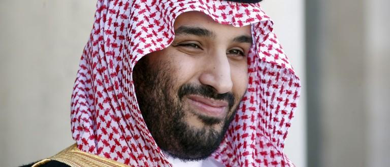 File photo of Saudi Arabia's Deputy Crown Prince Mohammed bin Salman reacting upon his arrival at the Elysee Palace in Paris