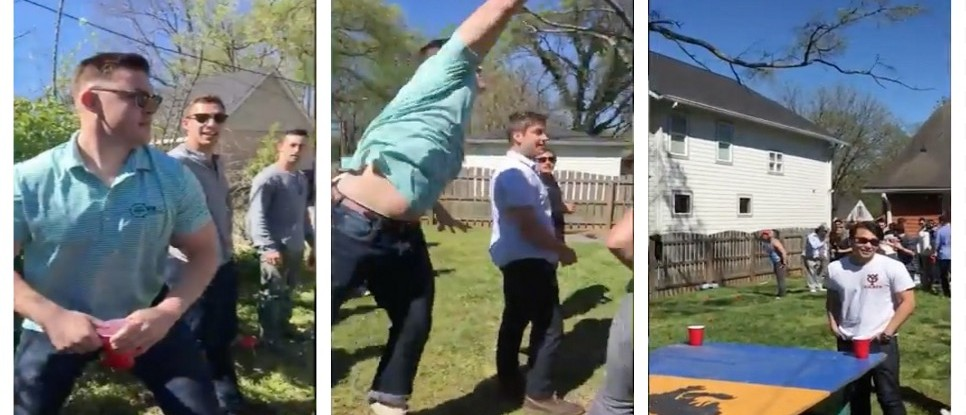 Bro Throws FULL CUP OF BEER Across The Yard, Doesn't Spill, Deserves A Medal (YouTube)