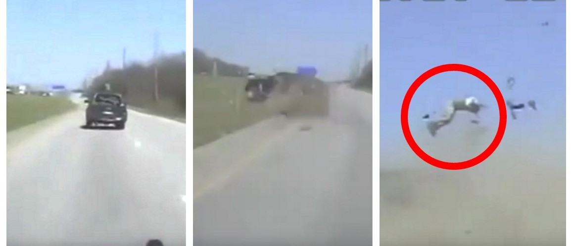 Cop Saves Man's Life After He Gets EJECTED From Car During High Speed Chase (YouTube)