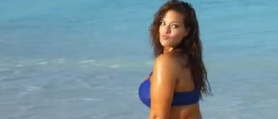 Ashley Graham is the first plus sized model to appear in Sports Illustrated