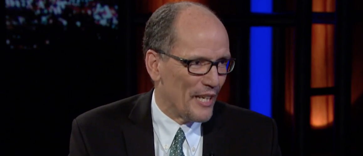 """Labor Secretary Thomas Perez on """"Real Time with Bill Maher."""" April 8, 2016. (Youtube screen grab)"""