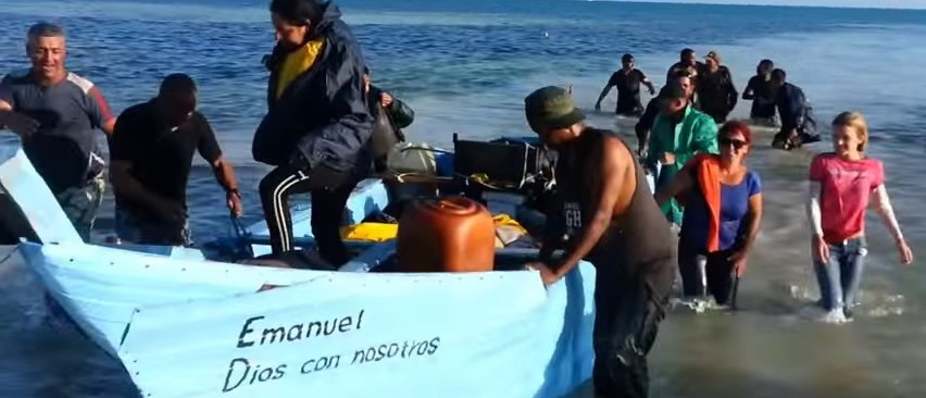 VIRAL: Illegal Cuban Immigrants Make Landfall In The Florida Keys (YouTube)