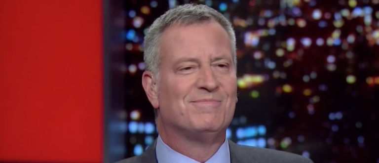 """Bill de Blasio on MSNBC's """"All In with Chris Hayes."""" April 12, 2016. (Youtube screen grab)"""