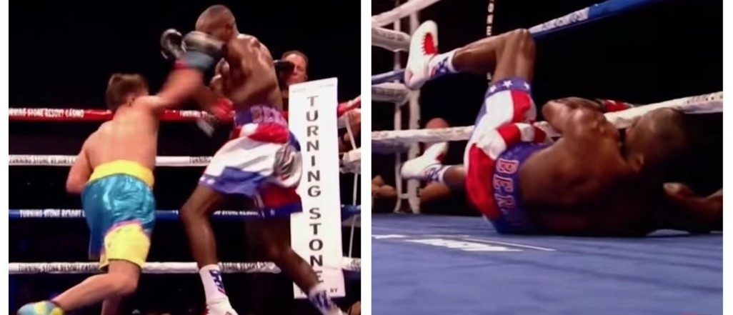 Vicious Right Hook Turns Boxer's Brains Into Scrambled Eggs (YouTube)