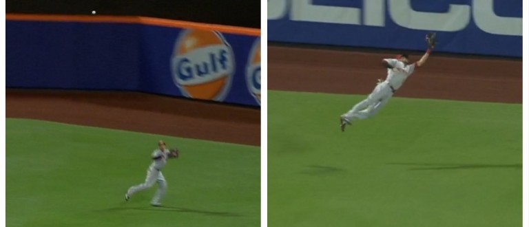 Fastest Man In The MLB Went Full Superman On This Ridiculous Grab (MLB)